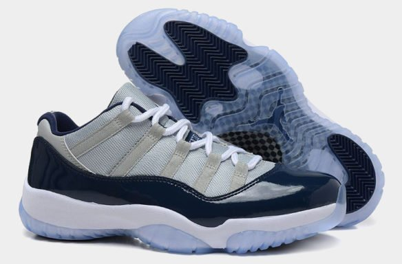 Фото Air Jordan 11 Retro George Town Low серо-синие - 1