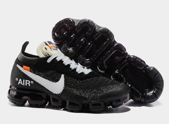 Фото OFF-WHITE x Nike Air Vapormax черные - 1