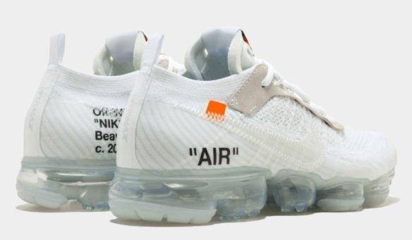 Фото OFF-WHITE x Nike Air Vapormax белые - 2