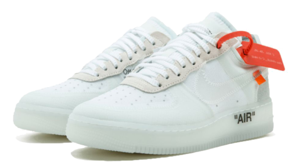 Фото OFF WHITE x Nike Force Белые - 3